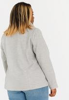 STYLE REPUBLIC PLUS - Classic Button Front Coat Charcoal