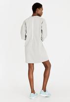 c(inch) - Zip Detail Sweater Dress Pale Grey