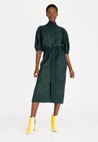 STYLE REPUBLIC - Puff Sleeve Dress Green