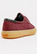 SUPERGA - Full Suede Leather Trim Sneakers Maroon