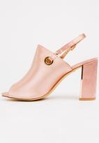 Plum - Daina slingback heels - pale pink