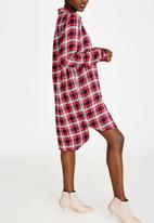 c(inch) - Hi Lo Shirt Dress Red