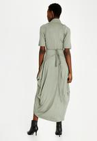 Leigh Schubert - Darth Vayder Wrap Dress Khaki Green