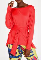 Leigh Schubert - Rushka Batwing Sleeve Top Red