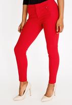 Sissy Boy - Girl Boss Skinny Trouser with Zip Detail Red
