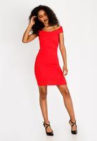 Sissy Boy - Bardot Day Dress Red