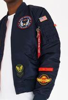 788c026ceb5c1 MA-1 D.I.Y VF Patch Jacket Dark Blue Alpha Industries Jackets ...