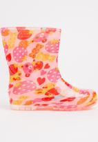 POP CANDY - AOP Rain Boots Mid Pink
