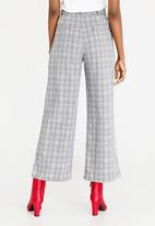 STYLE REPUBLIC - Zip Detailed Wide Leg Trousers Black and Grey