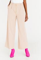 STYLE REPUBLIC - Zip Detailed Wide Leg Trousers Stone