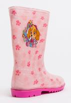 Character Fashion - Paw Patrol Wellington Boots Pale Pink