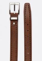 Pringle of Scotland - Bart Brough Leather Belt Brown