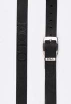 POLO - Swazi Casual Leather Belt Black