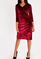 cath.nic - Velvet Wrap Dress Burgundy