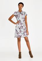 cath.nic - Floral Printed Dress Grey