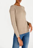 cath.nic - Pointelle Detailed Jersey Neutral