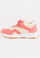 POP CANDY - Velcro strap sneaker - pink & cream