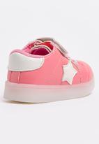 POP CANDY - Velcro strap light up sneaker - pink