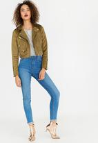Sherry Cropped Biker Jacket Khaki Green ONLY Jackets  60338f5f3a