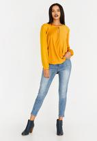 edit - Wrap Over Blouse Yellow