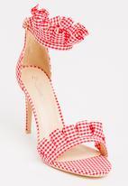 Miss Black - Lottie Strappy Heels Red