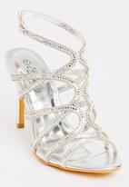 Miss Black - Kaede Strappy Heels Silver