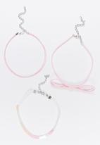 Jewels and Lace - Choker 3 Pack Set Multi-colour