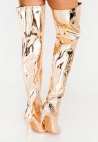 Dolce Vita - Montreux Thigh High Boots Rose gold