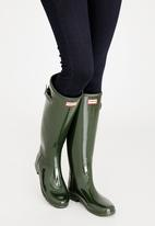 Hunter - Original Refined Gloss Hunter Boots Khaki Green