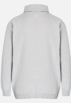 Rebel Republic - Zip Hooded Jersey Grey Melange