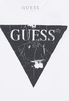 GUESS - Cracked Tri Printed Tee White