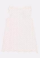 POP CANDY - Button Front Night Dress White