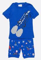 POP CANDY - Short Sleeve Printed Pj Set - Blue