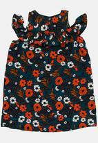 POP CANDY - Printed Cold Shoulder Dress Multi-colour