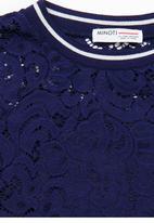 MINOTI - Rebel Lace Drop Shoulder Jumper Dark Blue