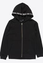 name it - Zip Through Hoody Black