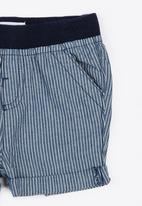 MINOTI - Holiday Ticking Stripe Shorts Blue