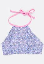Sun Things - Ditsy Pink Halter Top & Bottom Set Multi-colour