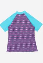 Sun Things - Pink mosaic rash vest - blue & purple