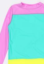 POP CANDY - Colour Block Rash Vest Multi-colour
