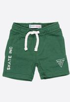 MINOTI - Skate inc fleece shorts - green