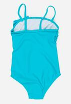 MINOTI - 1 Piece Swimsuit with Scallop Edge Front detail Turquoise