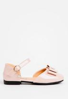 POP CANDY - Bow Detailed Pump Pale Pink