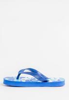 POP CANDY - Printed flip flops with foam sole - blue