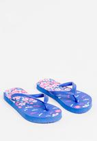 POP CANDY - Printed Flip Flops Blue