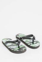 POP CANDY - Printed Flip Flops Khaki Green