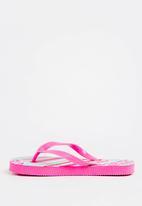 POP CANDY - Printed Flip Flops Dark Pink