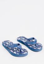 POP CANDY - Printed flip flops - navy