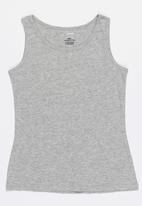 POP CANDY - Ribbed crew neck vest - grey