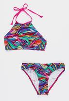 Sun Things - Rainbow Geo Halter Top & Bottom Set Multi-colour